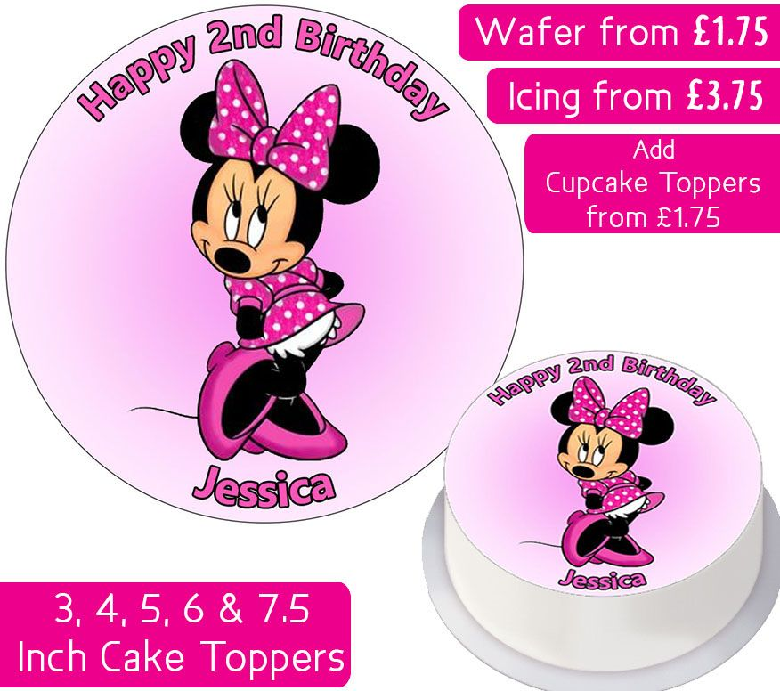 Minnie Mouse Personalised Cake Topper