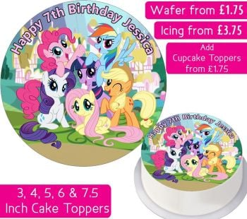 MLP My Little Pony Personalsed Cake Topper