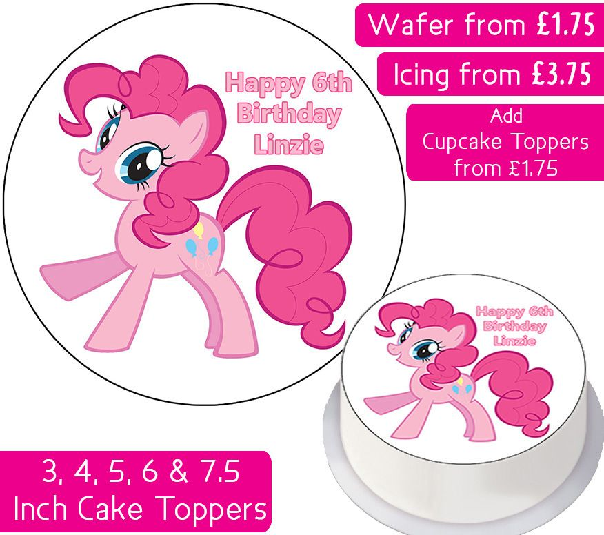 MLP Pinkie Pie - My Little Pony Personalised Cake Topper