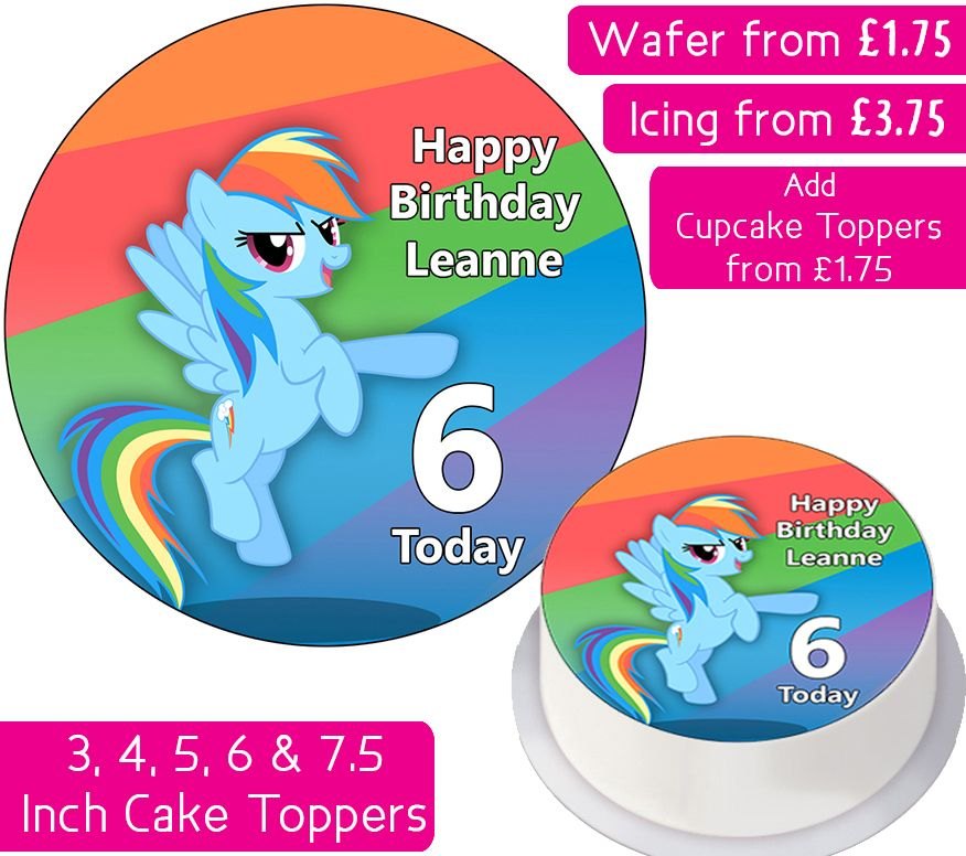 MLP Rainbow Dash - My Little Pony Personalised Cake Topper