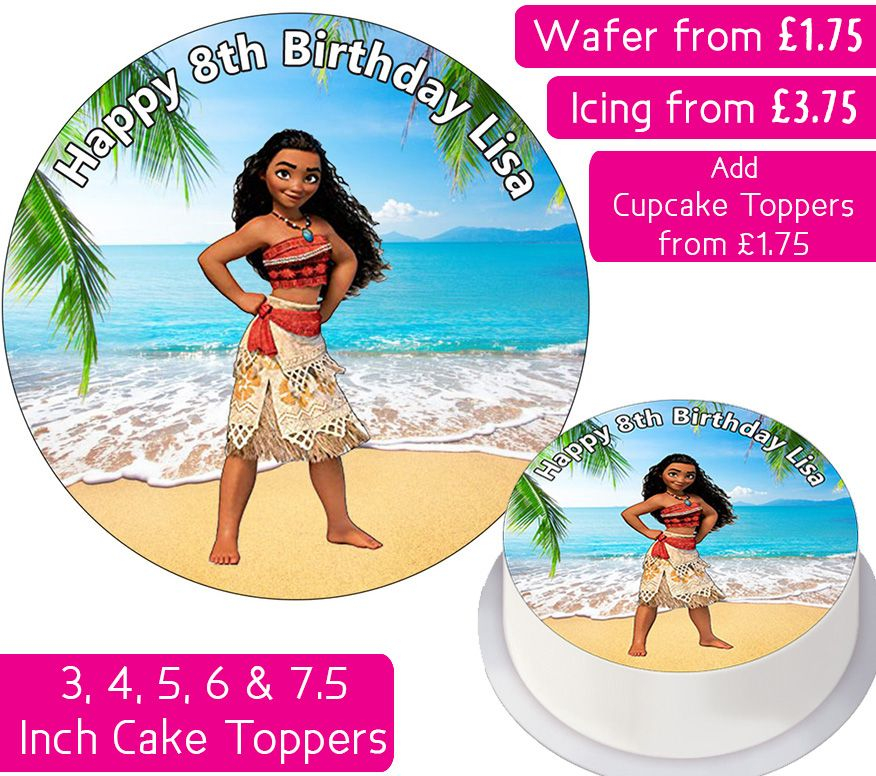Moana Personalised Cake Topper