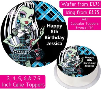 Monster High Frankie Stein Personalised Cake Topper