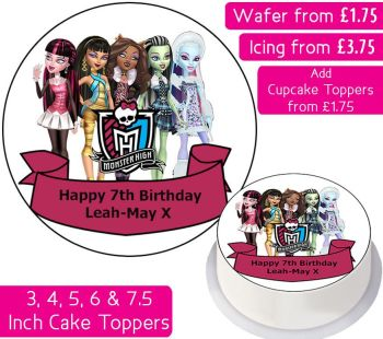 Monster High Personalised Cake Topper