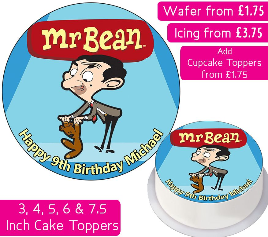 Mr Bean Personalised Cake Topper