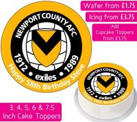 Newport County Football Personalised Cake Topper
