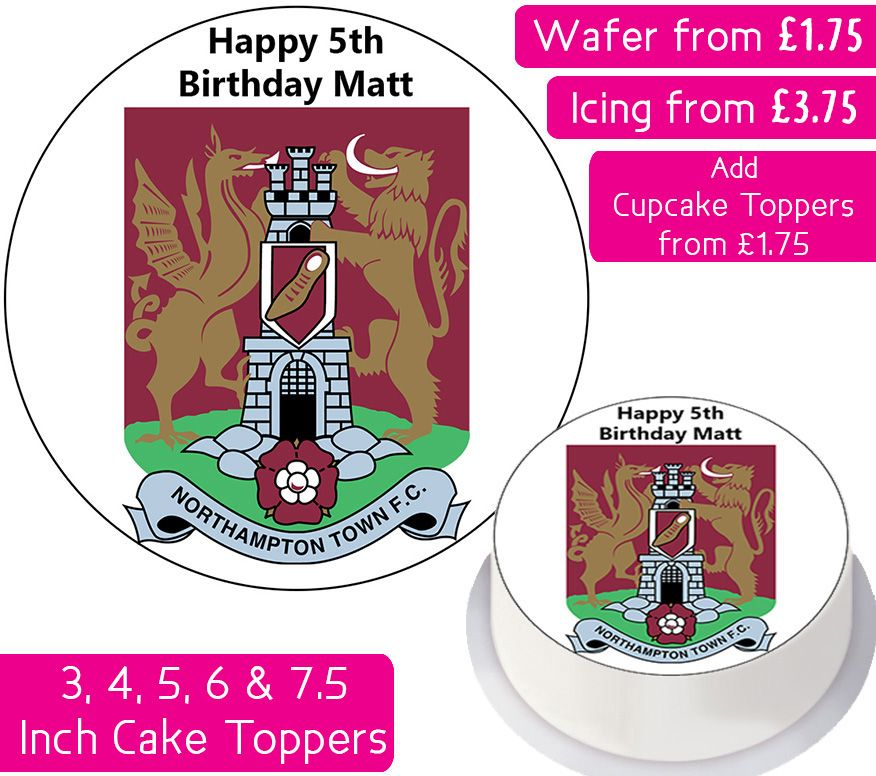Northampton Town Football Personalised Cake Topper