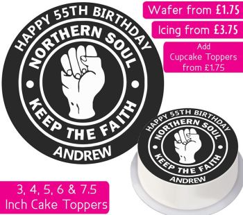 Northern Soul Personalised Cake Topper
