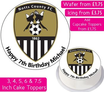 Notts County Football Personalised Cake Topper