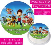 Paw Patrol Personalised Cake Topper