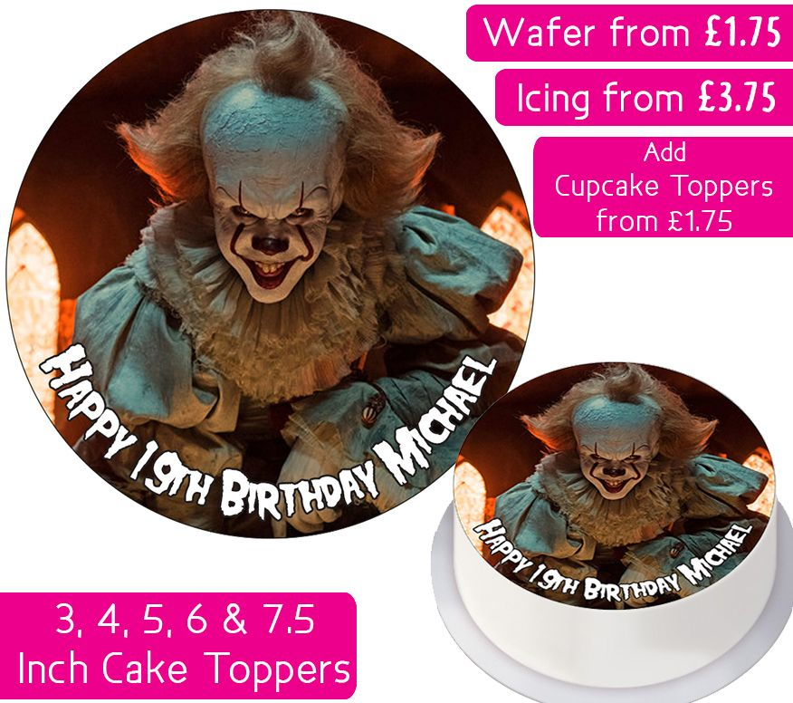 Pennywise Personalised Cake Topper
