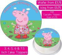 Peppa Pig Solo Personalised Cake Topper