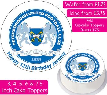 Peterborough United Football Personalised Cake Topper