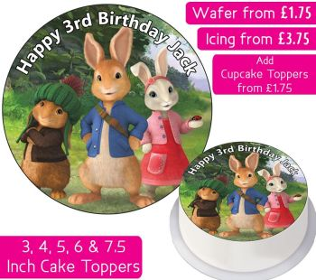 Peter Rabbit Personalised Cake Topper