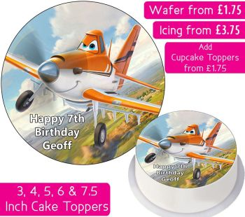 Planes Dusty Personalised Cake Topper