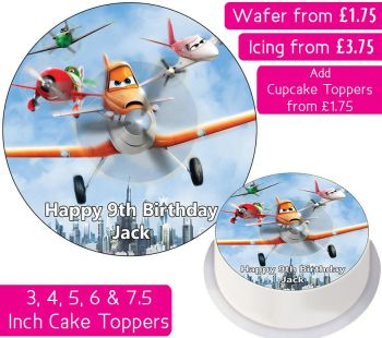 Planes Group Personalised Cake Topper