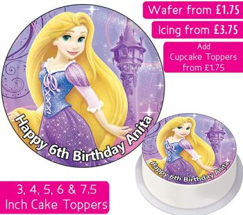 Rapunzel Personalised Cake Topper