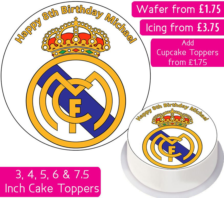 Real Madrid Football Personalised Cake Topper