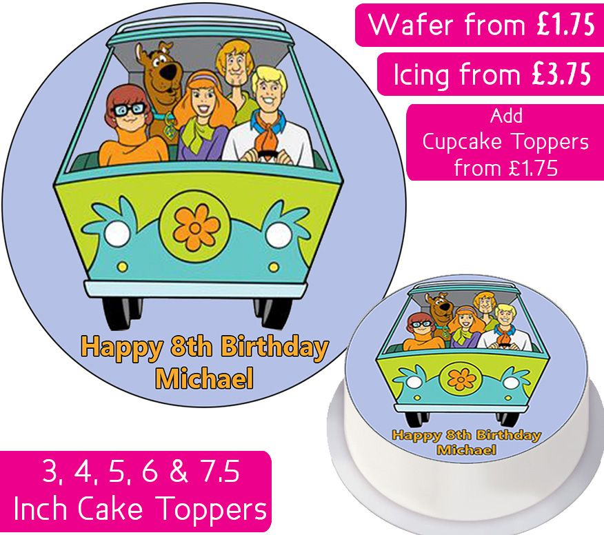 Scooby Doo Gang Personalised Cake Topper