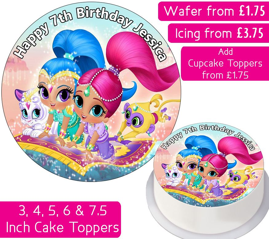 Shimmer and Shine Gang Personalised Cake Topper