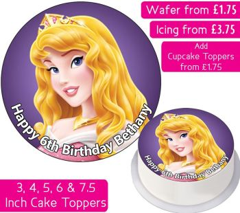Sleeping Beauty Personalised Cake Topper