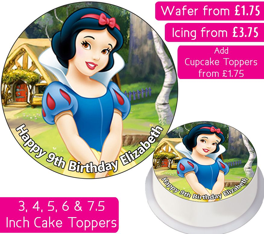 Snow White Personalised Cake Topper
