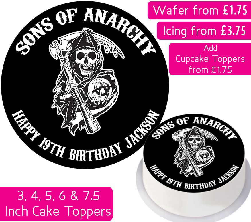 Sons of Anarchy Personalised Cake Topper