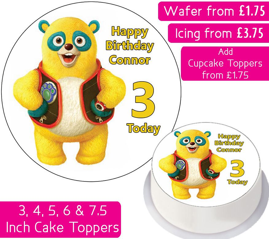 Special Agent Oso Personalised Cake Topper