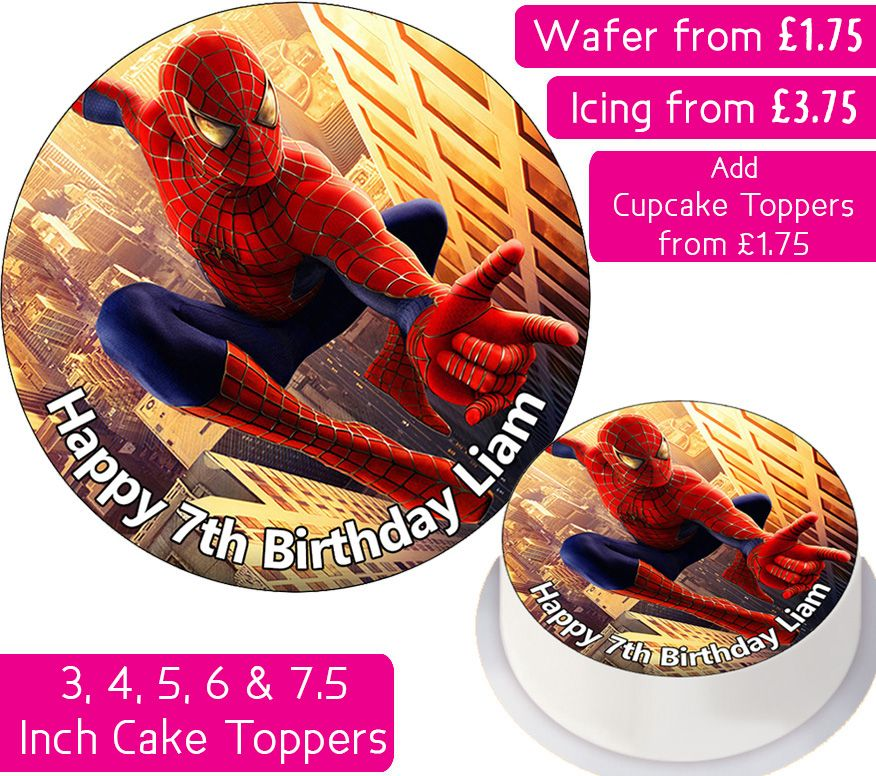 Spiderman Personalised Cake Topper
