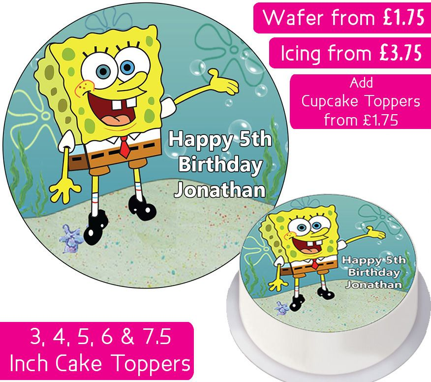 Spongebob Squarepants Personalised Cake Topper