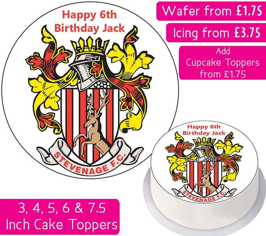 Stevenage Football Personalised Cake Topper