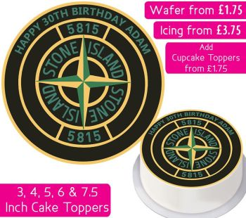 Stone Island Personalised Cake Topper