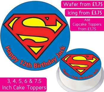 Superman Personalised Cake Topper