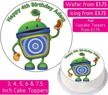 Team Umizoomi Bot Personalised Cake Topper