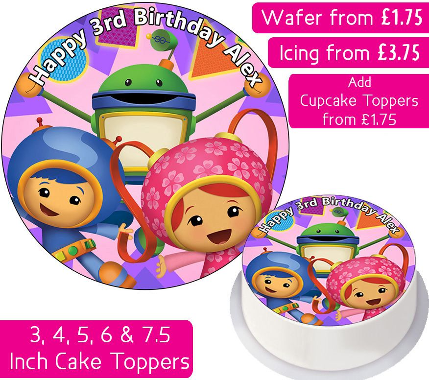 Team Umizoomi Gang Personalised Cake Topper