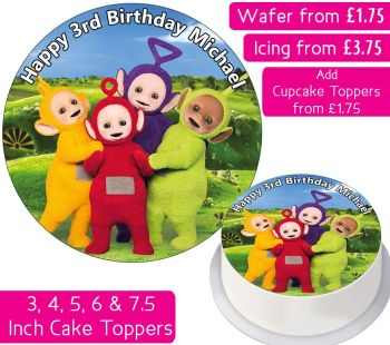 Teletubbies Personalised Cake Topper