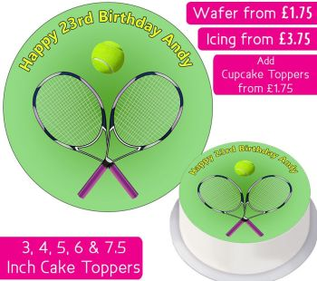 Tennis Personalised Cake Topper
