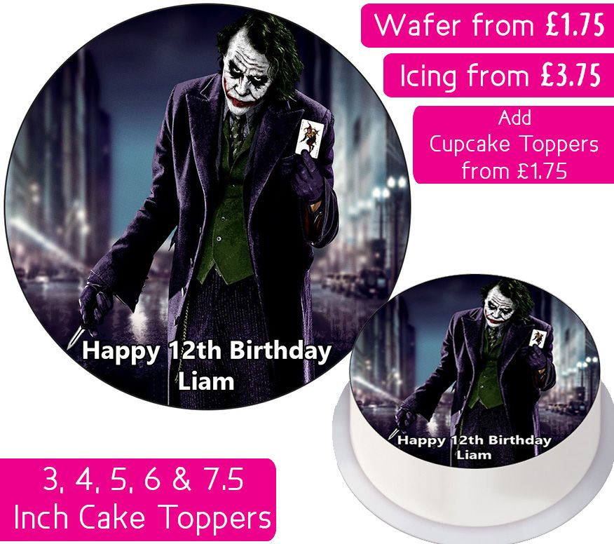 The Joker Personalised Cake Topper