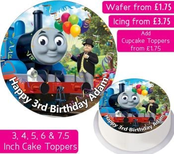 Thomas The Tank Engine Personalised Cake Topper
