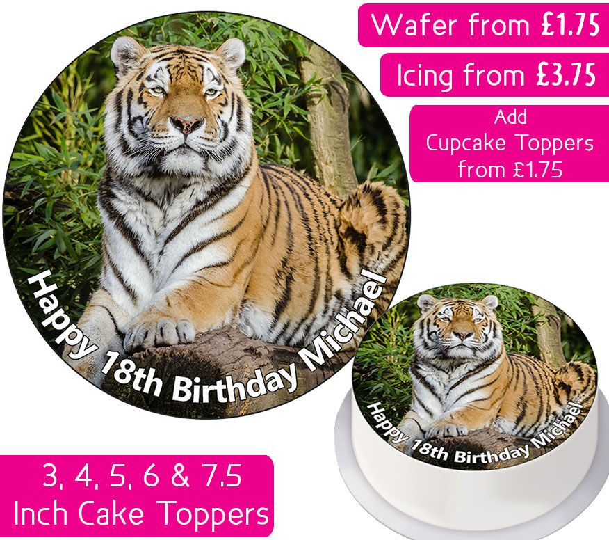 Tiger Personalised Cake Topper