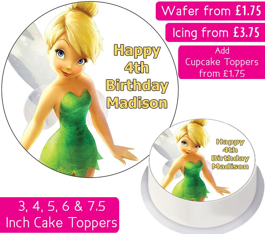 Tinkerbell Personalised Cake Topper