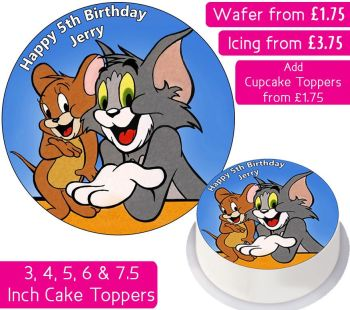 Tom & Jerry Personalised Cake Topper