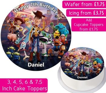 Toy Story Personalised Cake Topper