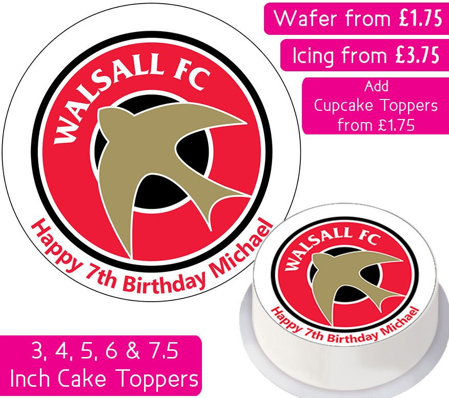 Walsall Football Personalised Cake Topper