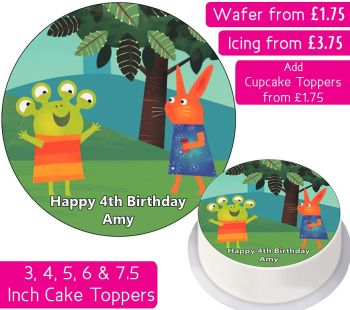 Wanda And The Alien Personalised Cake Topper