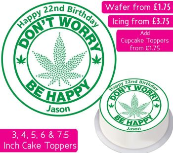 Weed Personalised Cake Topper