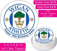Wigan Athletic Football Personalised Cake Topper