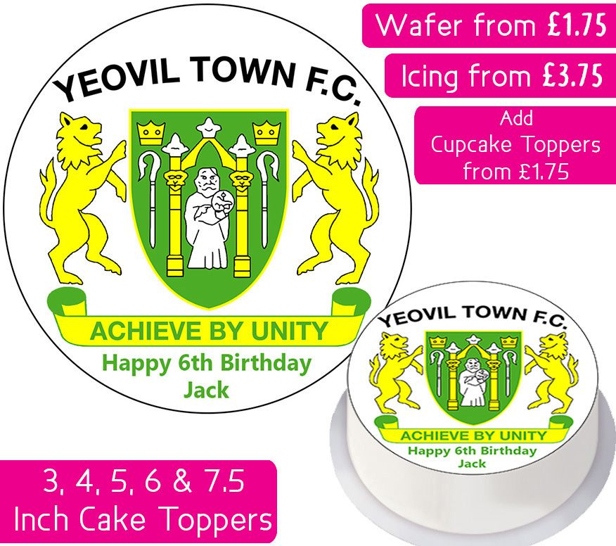 Yeovil Town Football Personalised Cake Topper