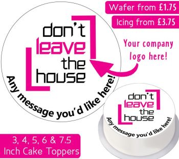Your Own Company Logo Personalised Cake Topper