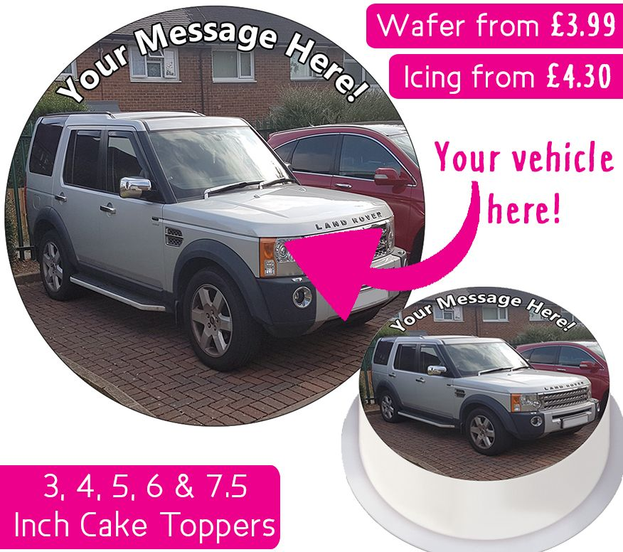 Your Own Personalised Car / Vehicle Cake Topper