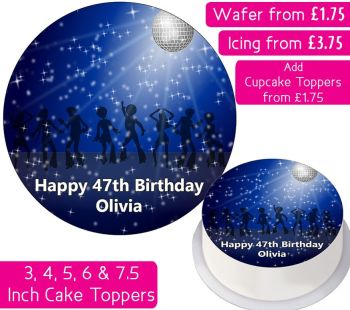 Disco Personalised Cake Topper